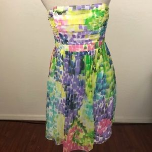 Milly Of New York Tube Top Strapless Silk Dress
